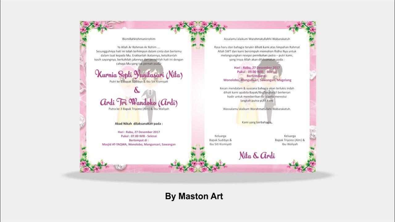 Tutorial Coreldraw Pemula Custom Cantik Undangan Pernikahan Part2