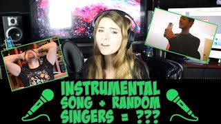 I gave 100's of singers an instrumental track and this happened...