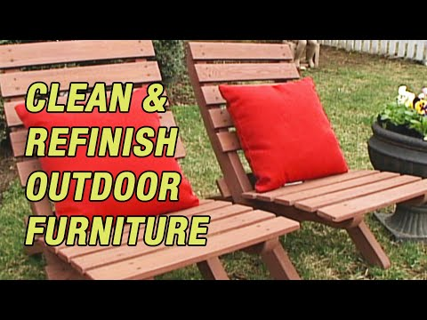 Clean & Refinish Outdoor Furniture