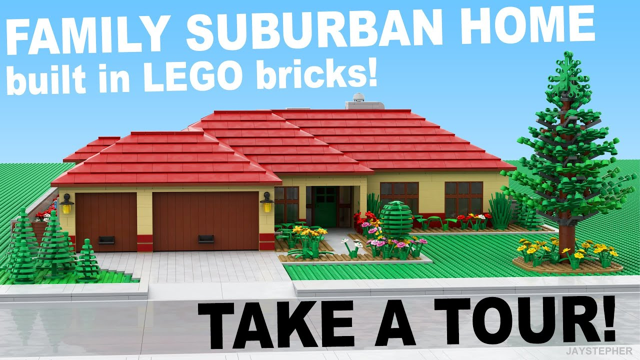 Lego family suburban home custom build moc youtube for Custom build your home