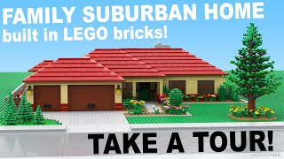 LEGO Family Suburban Home Custom Build MOC