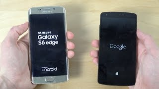 Samsung Galaxy S6 Edge vs. Nexus 5 Official Android 5.1.1 - Which Is Faster? (4K)