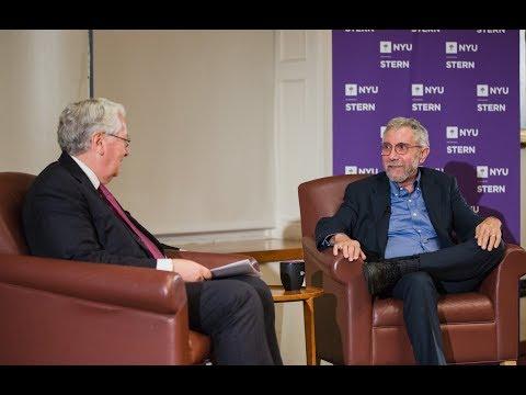 """NYU Stern's """"In Conversation with Lord Mervyn King"""" Series Presents Paul Krugman"""