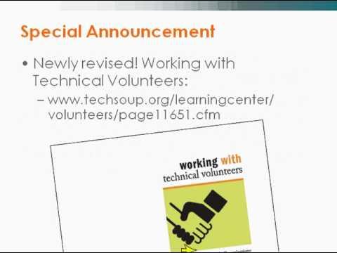 Webinar - Managing IT Volunteers - 2009-04-23