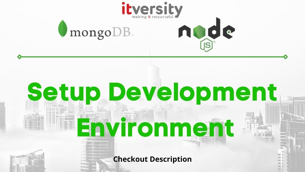 Setup Development Environment - Setup Robo 3T Mongo IDE (optional)