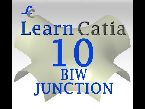 Learn catia V5 Tutorials for beginners GENERATIVE SHAPE DESIGN, BIW, JUNCTION