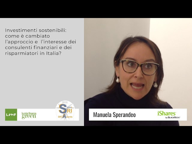 Manuela Speradeo (iShares) - Salone SRI 2018