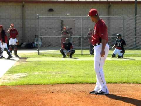 Sergio Escalona throwing session at Houston Astros Spring Training 03/13/2012