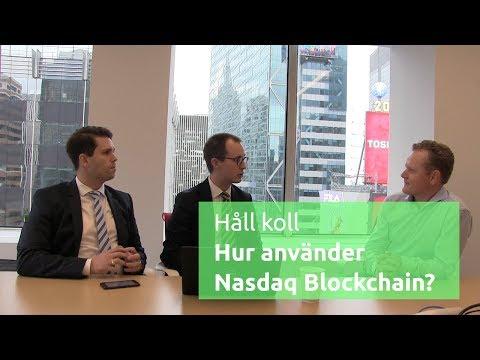 Hur använder Nasdaq Blockchain? - Nicklas & Philip i USA