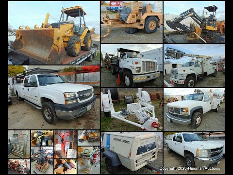 Auction! Construction Equipment, Vehicles, Tools, Wire & More  - Loomis, CA