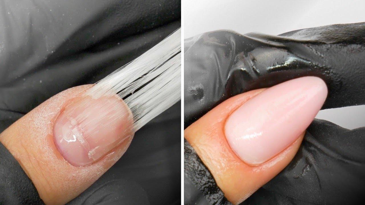 Przedluzanie Paznokci Na Wlokno Szklane Fiberglass Nails Youtube