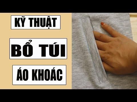 DIY - How To Sew A Pocket | KỸ THUẬT BỔ TÚI ÁO KHOÁC | Ặt Củ Tỏi DIY