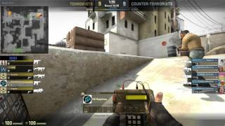 CSGO - 2 Players 3 Bots VS 5 Players Competitive - Highlights