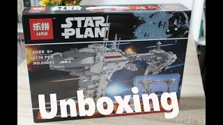 LEPIN - 05083 - EF76 Nebulon - B Escort Frigate # Unboxing deutsch