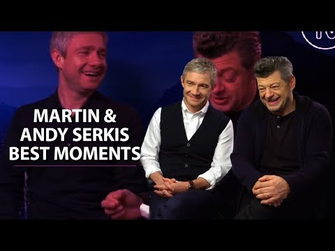 Martin Freeman and Andy Serkis  BEST MOMENTS