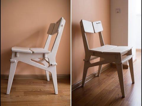 Фрезеровка простого стульчика из фанеры/Simple Chair Made From Plywood