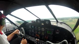 Matt Younkin Beech 18 Cockpit Video - Aerobatics Air Show
