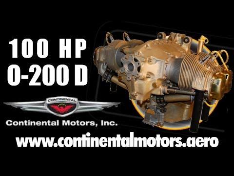 Continental 0-200 D 100 HP light sport aircraft engine