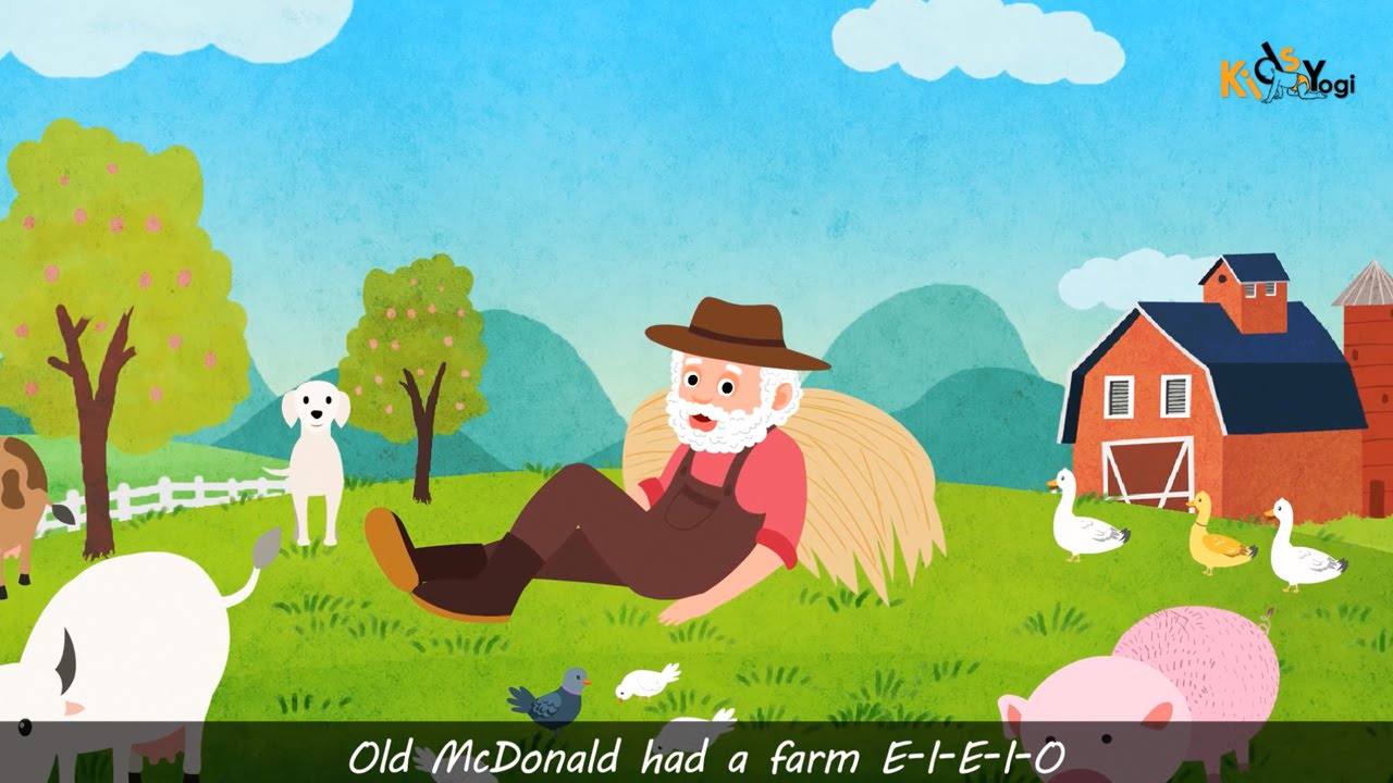 Old Mcdonalds Had A Farm English Nursery Rhymes Songs For Children By Kids Yogi