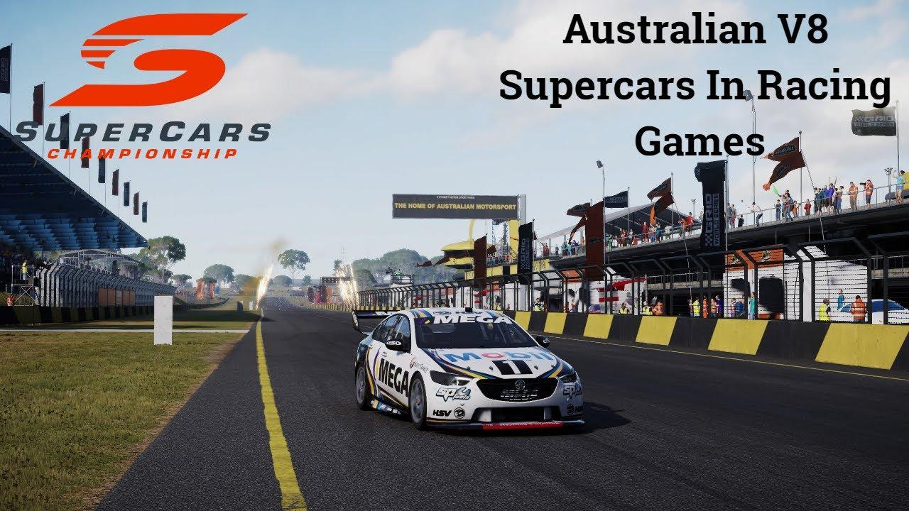Australian V8 Supercars In Racing Games Youtube