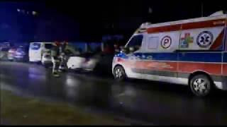 Kolizja drogowa z udziałem dwóch samochodów osobowych w Nowej Dębie