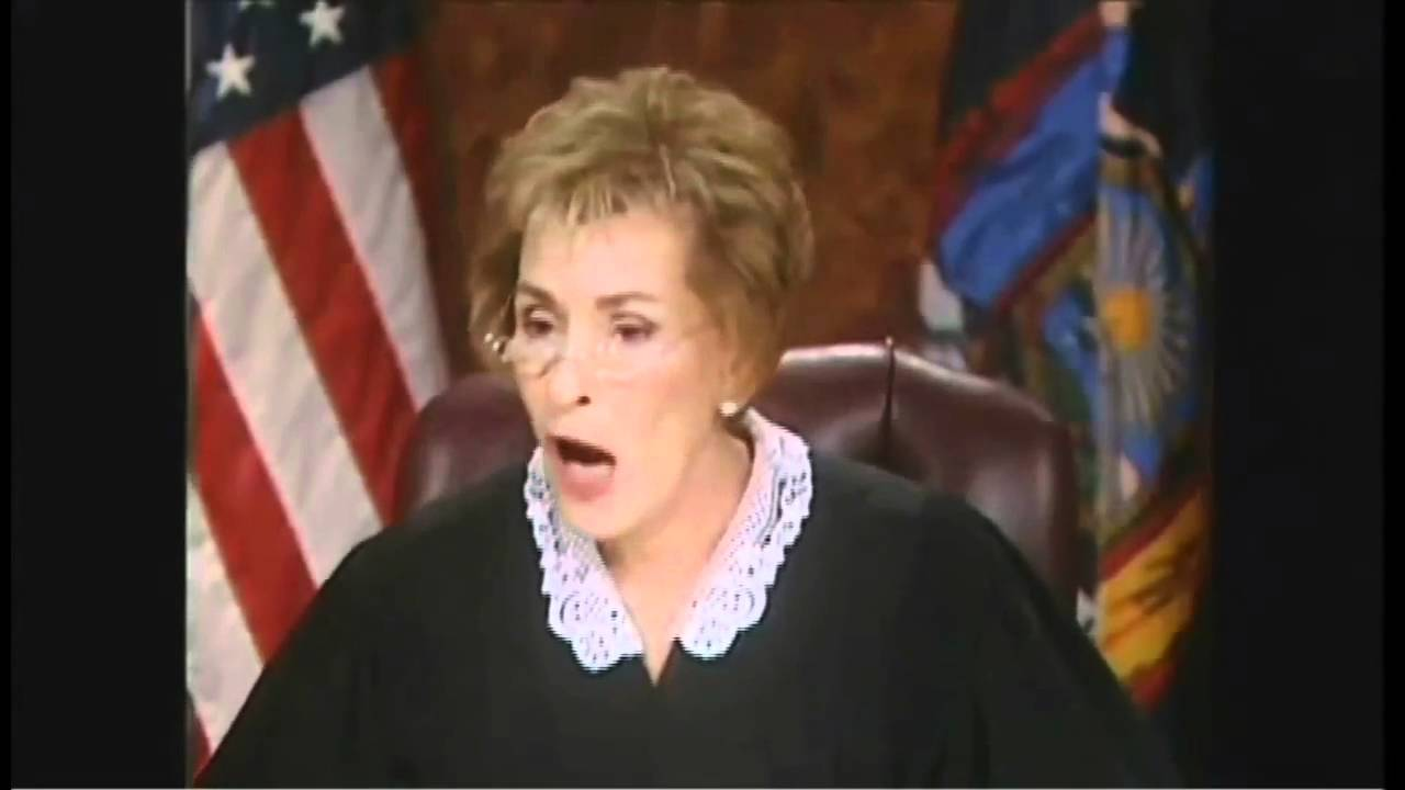 judge judy shows her fangs amp embrasses the heck out of