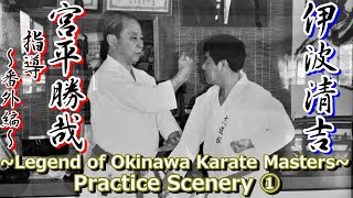 【宮平勝哉先生 指導~番外編①~】~Legend of Okinawa Karate Masters(Practice Scenery①)~