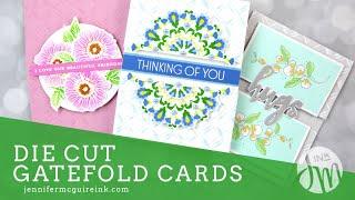 Die Cut Gatefold Cards