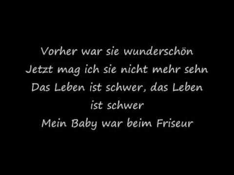 Die ärzte Mein Baby War Beim Friseur With Lyrics Youtube