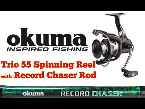 Okuma Fishing Tackle USA Okuma - Record Chaser Rod - Okuma Trio 55 Spinning Reel