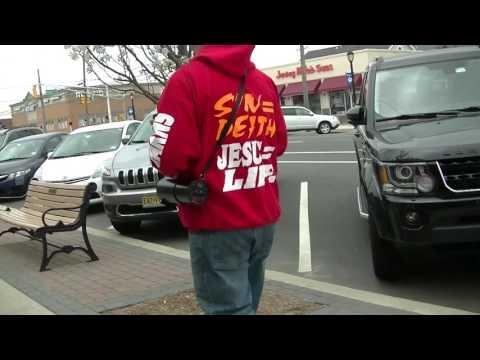 Street Preacher walking the Streets  - April 15,  Lavallette,NJ