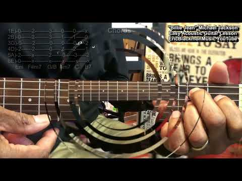 How To Play BILLIE JEAN On Guitar For DUMMIES Michael Jackson EricBlackmonGuitar