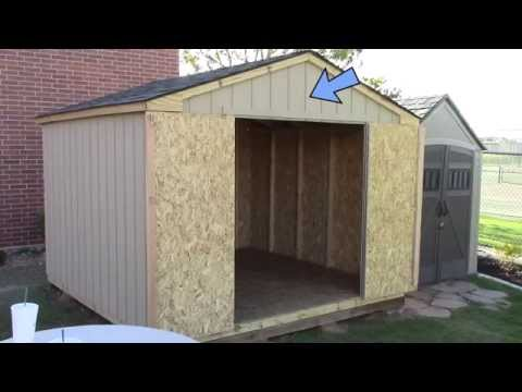 Building a pre-cut wood shed  – What to expect – Home Depot's Princeton
