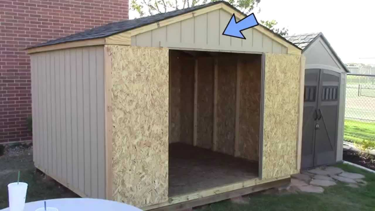 medium resolution of building a pre cut wood shed what to expect home depot s princeton youtube