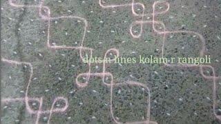 27 dots kolam | simple kambi/ neli kolam| sikku rangoli | big melika muggulu | Margazhi kolangal new