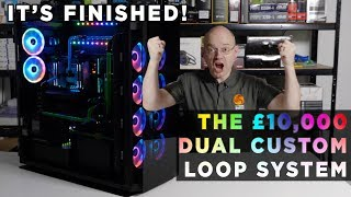 Leo builds a £10,000 WATERCOOLED DUAL system GAMING PC real time MOVIE - PART 2 with BLOOPERS!