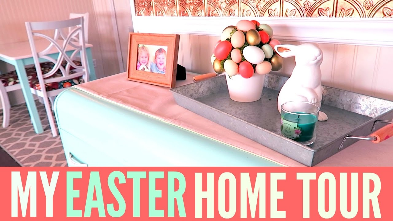 Easter home decor tour spring home decor youtube for Home decorations video