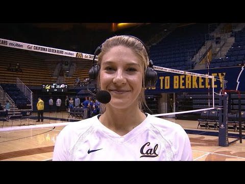 California women's volleyball's Savannah Rennie on her first match, point post liver transplant:...