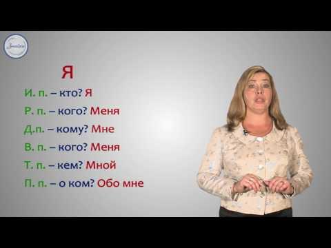 Видеоурок русского языка 4 класс