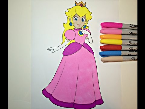 Coloring Pages Princess Peach : Access: youtube