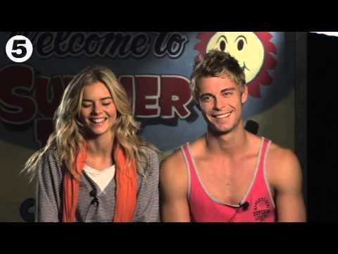 Storyline chat  Luke Mitchell, Samara Weaving and Axle Whitehead Part 1