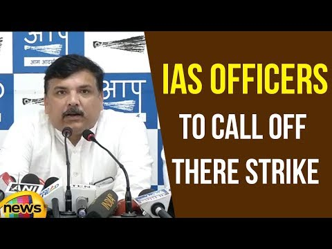 Rajya Sabha Member Sanjay Singh says, We Want IAS Officers to call off there Strike | Mango News