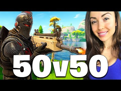NEW 50 vs 50 MODE LIVE!! (Fortnite Battle Royale)