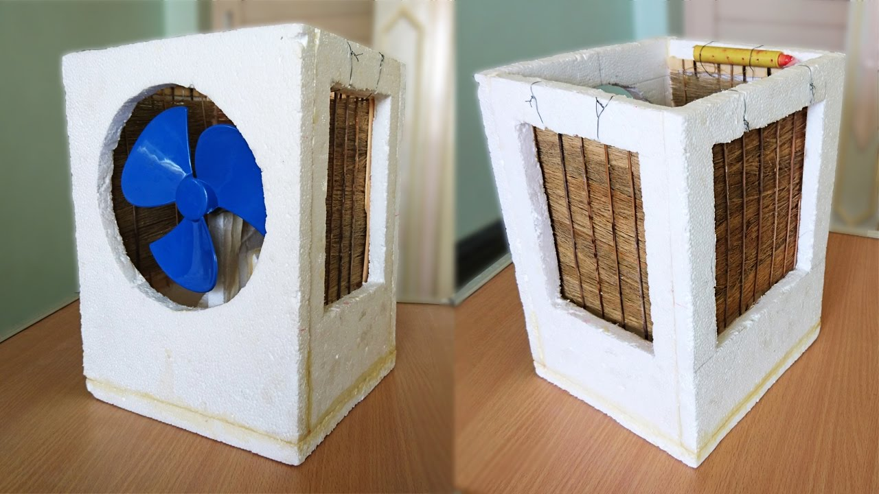 How to make an air cooler at home best out of waste for Making hut with waste material