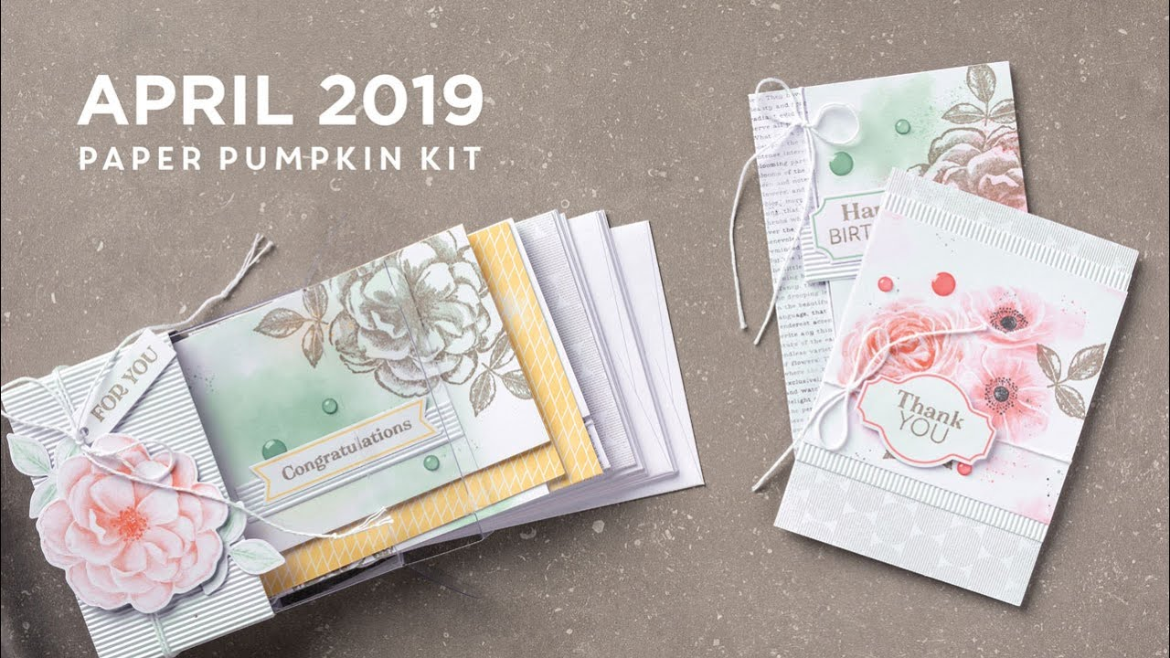 Paper Pumpkin April 2019 Card Ideas Paper Pumpkin April 2019   YouTube