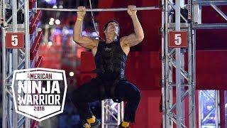 Mike Bernardo's Epic Climb On The Super Salmon Ladder | American Ninja Warrior
