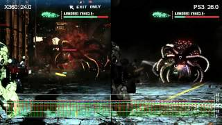 Vanquish Xbox 360 vs. PlayStation 3 Gameplay Frame-Rate Tests
