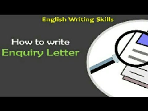 Enquiry letter writing youtube enquiry letter writing expocarfo Image collections