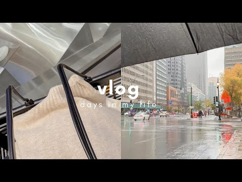 Canada vlog | Rainy days in Montreal ☔ realistic day in my life in Canada | Daily vlog