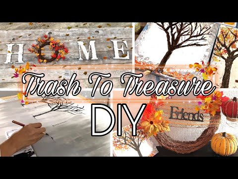 Fall Home Decor Ideas On Budget 2019 | Extreme Autumn DIY Dollar Tree | Trash To Treasure Finds